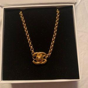 Vintage Chanel turnlock necklace